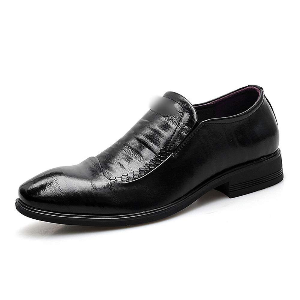 Formella herrskor, tvålagerkostymer, herrläderskor, mode (färg  svart, svart, svart, storlek  39)  hög kvalitet