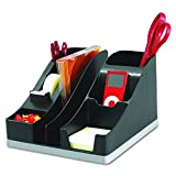 used techno phones - Deflecto Silhouettes All-In-One Desk Caddy, Office Supplies Caddy, Black With Silver Base, 8-1/8