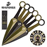 United States Marine Corp USMC Throwing Knife Set With Paper Target