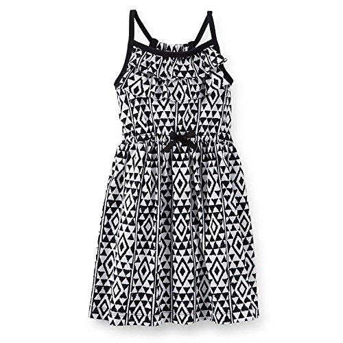 Jersey Dress Carter's White Print Girl's Black Pqax5a4w