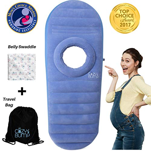 Back & Bump Comfort Blue Cozy Pregnancy Pillow