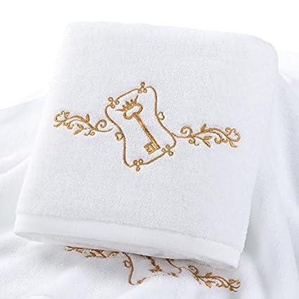 YBFQ Toallas de algodón puro algodón pareja femenina adulta gran toalla suave de absorción de agua