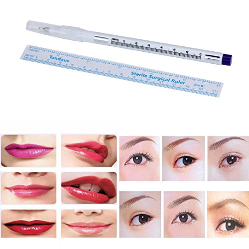 Lace Markers - Creazy Surgical Skin Marker Pen Scribe Tool for Tattoo Piercing Permanent Makeup