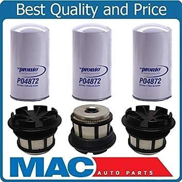Oil Filters 6pc for 99-03 E350 F250 F350  SUPER 7.3L Diesel Turbo Fuel Filter