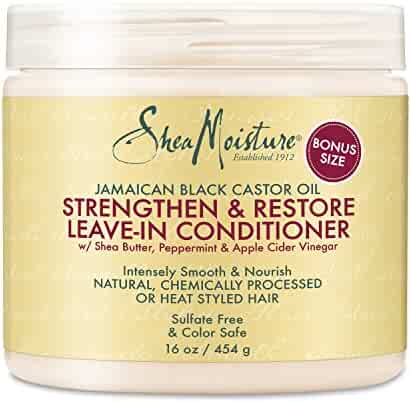 Shea Moisture Jamaican Black Castor Oil Strengthen and Restore Leave-in Conditioner, 16 Oz