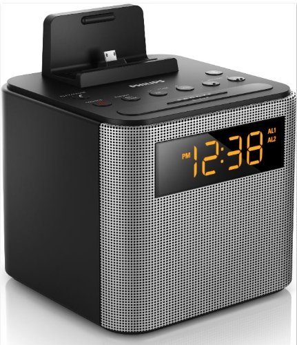 0e5347ecfb3 Amazon.com  Philips AJT3300 37 Bluetooth Dual Alarm Clock Radio  iPhone Android Speaker Dock Speakerphone Microphone (Black)  Home Audio    Theater