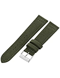 Hadley-Roma Men's MSM850RAB200 20mm Army Green Genuine 'Cordura' Watch Strap