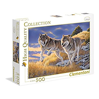 Clementoni 35033 High Quality Collection Puzzle The Wolves 500 Pezzi