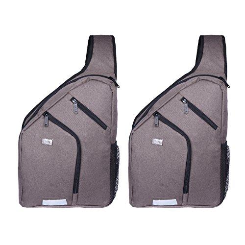 Shoulder Backpack Chest Crossbody Bags Large Travel Sling Pack for Men 13-D grey-2