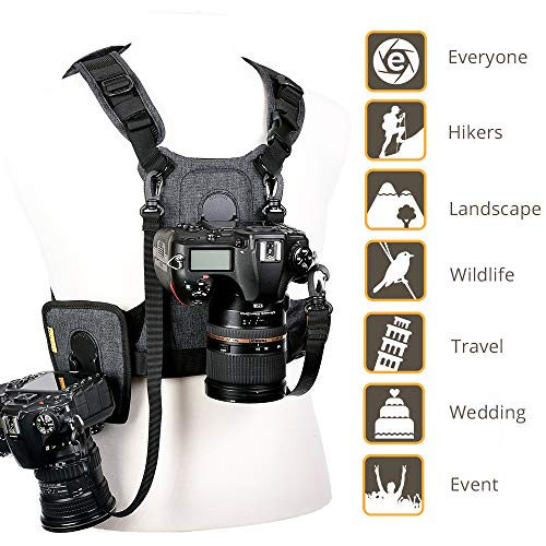 Cotton Carrier G3 Dual Camera Harness for 2 Camera's Gray by Cotton (Image #5)