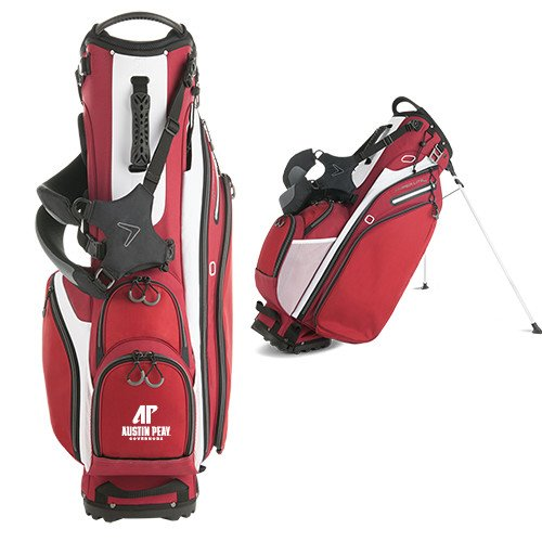 Austin Peay Callaway Hyper Lite 4 Red Stand Bag 'AP Austin Peay Governors - Official Athletic Logo' by CollegeFanGear