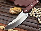 Hunting knife with leather sheath and box For Sale