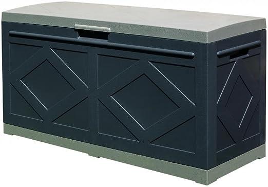 Ideapiu Baúl de Resina, Box, Baúl con Ruedas de plástico, Recipiente Multiusos de jardín: Amazon.es: Hogar