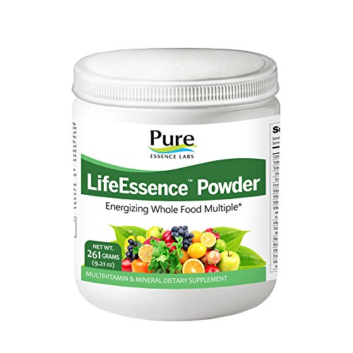 Pure Essence Labs LifeEssence Multivitamin for Women and Men - Natural Herbal Supplement with Vitamin D, D3, B12, Biotin - 9.21 oz by Pure Essence Labs