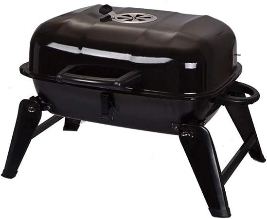 Barbacoas portátiles, Redonda Barbacoa de carbón Esmaltado para Fiesta BBQ Jardín Exterior (Tamaño : A): Amazon.es: Hogar