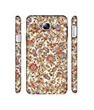 Casotec Floral Design 3D Printed Hard Back Case Cover for Samsung Galaxy E5