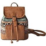 Cheap Backpack Purse Women Girls Rucksack Shoulder Bag Casual School bag Travel Daypack (Green Plaid)