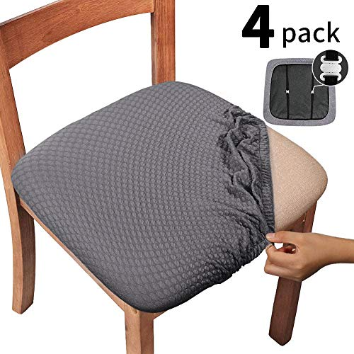 dining chair seat covers set of 4 - 9