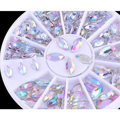 3D Nail Art Rhinestones Glitters Beads Acrylic Tips Decoration Manicure Wheels (Pattern - 36mm/48mm Oval Rhinestone St.)