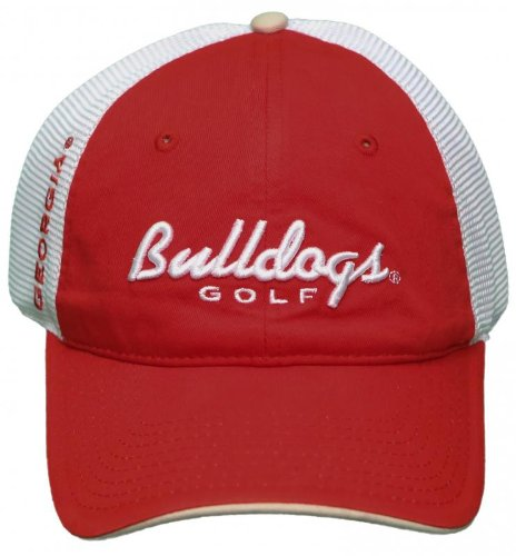 NEW! University of Georgia Bulldogs Mesh Buckle Back Hat 3D Embroidered Cap