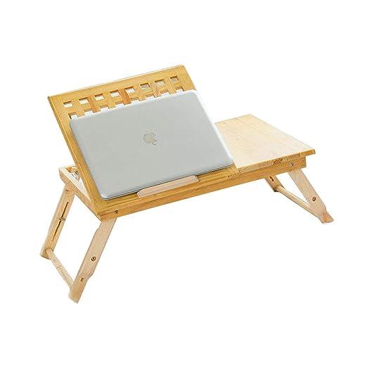 QARYYQ Cama portátil Altura de la Mesa de Escritorio Plegable y ...