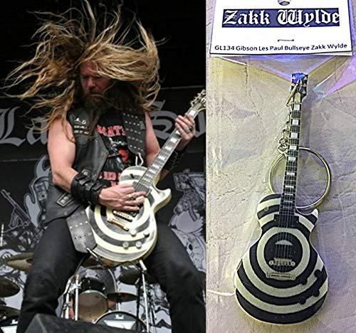 Keychain Guitar Gibson Les Paul Bullseye Zakk Wylde