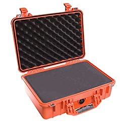 Pelican 1500 Camera Case With Foam (Orange)