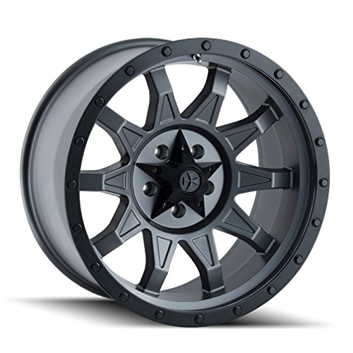 Dirty Life ROADKILL Matte Gunmetal/Black Beadlock Wheel with Painted Finish (17 x 8.5 inches /6 x 139 mm, 6 mm Offset) (2015 Gmc Sierra 1500 All Terrain Lifted)