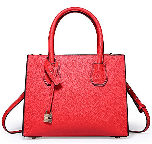 Bolsos de señora Xinmaoyuan Traba cuero Bolso Simple Bolso Bolso de Hombro,verde Rojo