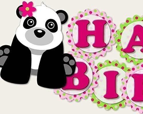 Amazon.com: Panda Birthday Banner Party Decoration