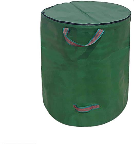 Saco de basura de jardín Bcamelys con tapa, plegable, con cierre de cremallera, resistente al agua, 272L, autónomo y plegable, para residuos de jardín, hojas, césped, 1 paquete.: Amazon.es: Jardín