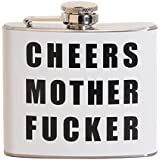 Cheers Mother Fucker 5 oz. Stainless Steel Flask