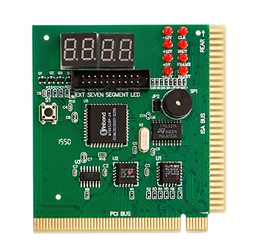 Pci Diagnostics Post Test Card (Kingwin PC Computer Motherboard Analyzer Kit [Digital PCI & ISA PC SDRAM NA Motherboard]. 4 Digit PCI & ISA PC Tester, Diagnostic Debug POST Card External Display (CMBA-4))