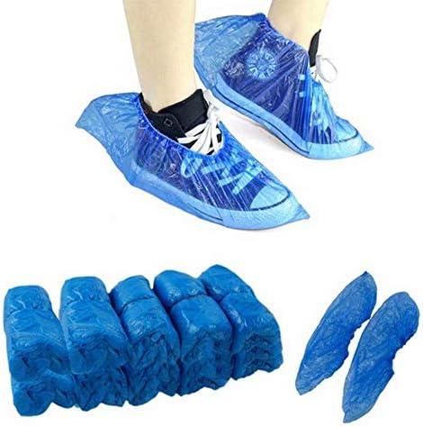 100個/袋防水ブーツカバーポータブル使い捨てオーバーシューズ靴カバープロテクターホスピタリティ食品工業靴カバー