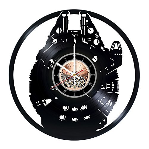 Nave Espacial Vinyl Record – Reloj de pared salón Wall Decor – Ideas de regalo para amigos, Hombres y...