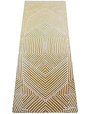 Yoga Design Lab | DE COMBO YOGA MAT | 2-in-1 Mat+Handdoek | Eco Ontworpen in Bali | Ideaal voor Hot Yoga, Macht, Bikram, Ashtanga, Sweat | Studio Kwaliteit | Inclusief draagband