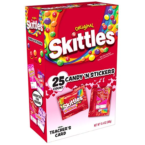 SKITTLES Original Candy Valentine's Day Exchange Gift Kit, 13.4-Ounce 25 Piece Box