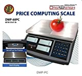 Digiweigh DWP-60PC Price Computing Scale 60 lb x 0.01 lb, NTEP, Legal For T ....