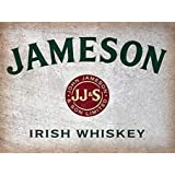 Vintage Metal Tin Sign 8x12 Jameson Whiskey Irish Wall Decor Home Decor