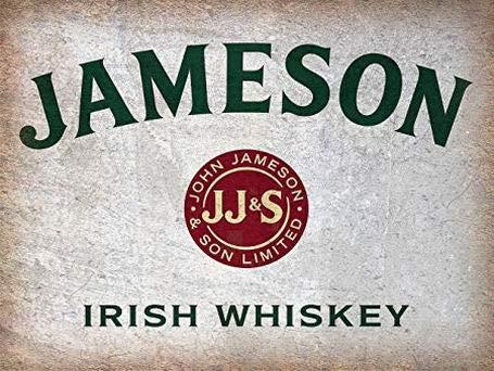PaBoe Vintage Metal Tin Sign 8x12 Jameson Whiskey Irish Wall Decor Home Decor