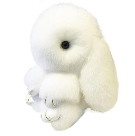 Amazon.com: Adorable conejos piel auténtica conejo esponjoso ...