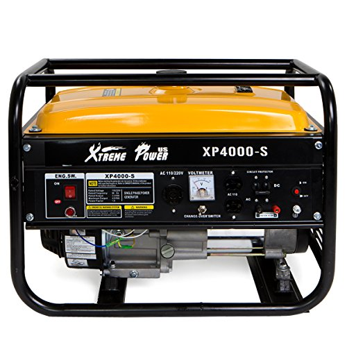 Ohv Engine Generator - XtremepowerUS 3500 Running Watts/4000 Starting Watts, Gas Powered Portable Generator 7HP Air Cooled OHV Engine