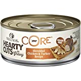 Wellness CORE Hearty Cuts Grain Free Chicken & Turkey Wet Canned Cat Food, 5.5-Ounce Can (Pack of 24)