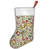 Mexican Food Christmas Stocking Red Xmas Socks