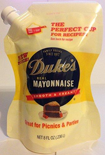 Duke's Mayonnaise - Smooth & Creamy - Convenient Pouch - Net Wt. 8 FL OZ (.236 L) Each - Pack of 4