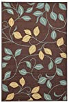 Maxy Home Hamam Collection Rubber Back Floral1 Area Rugs