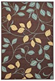 """Maxy Home Hamam Floral Brown 18"""" x 31"""" Rubber"""