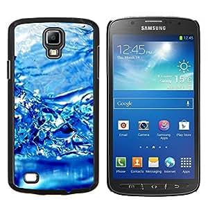 LECELL--Funda protectora / Cubierta / Piel For Samsung Galaxy S4 Active i9295 -- Agua Efecto Azul --