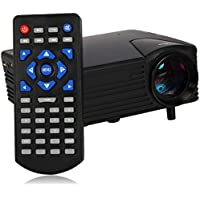 H80 80 Lumens LED Portable Multimedia Game LCD Projector Black (US Plug)