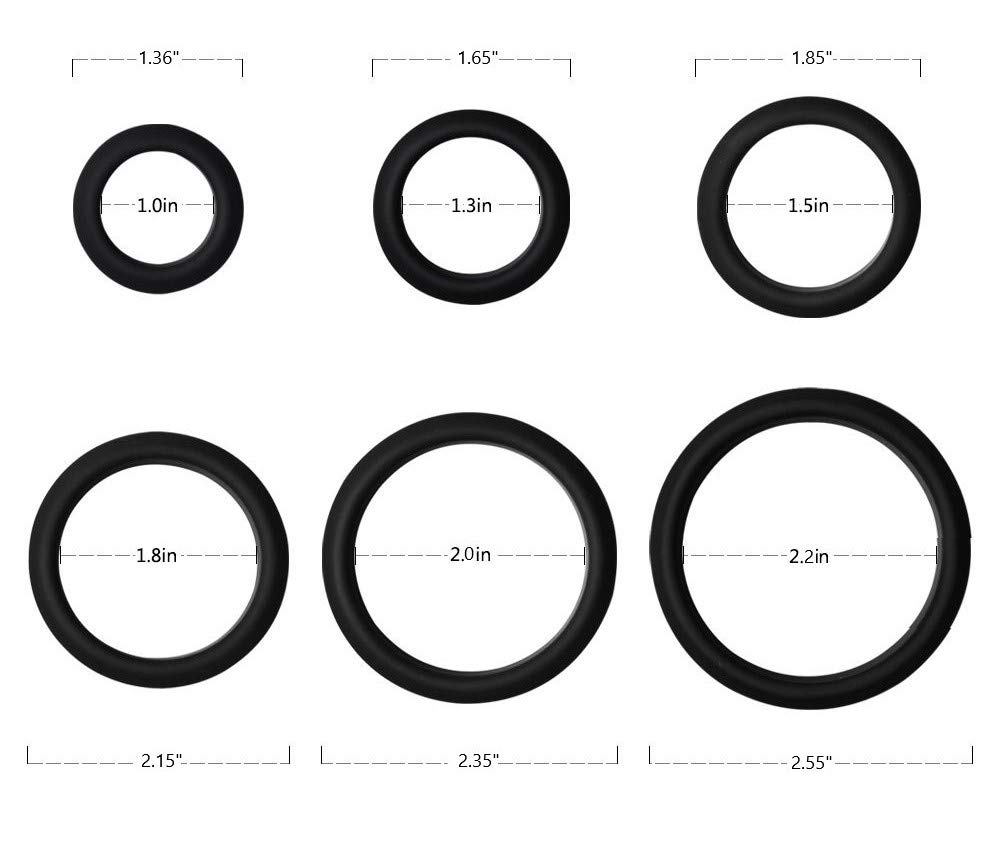 TCSR 6 Different Size Cock Rings - Medical Grade Soft Silicone Penis Rings - Better Sex by TCSR (Image #8)